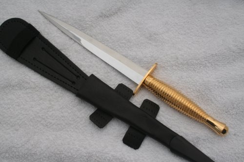 Pisau Komando GENUINE GOLD COMMANDO KNIFE SHEFIELD FAIRBAIRN SYKES