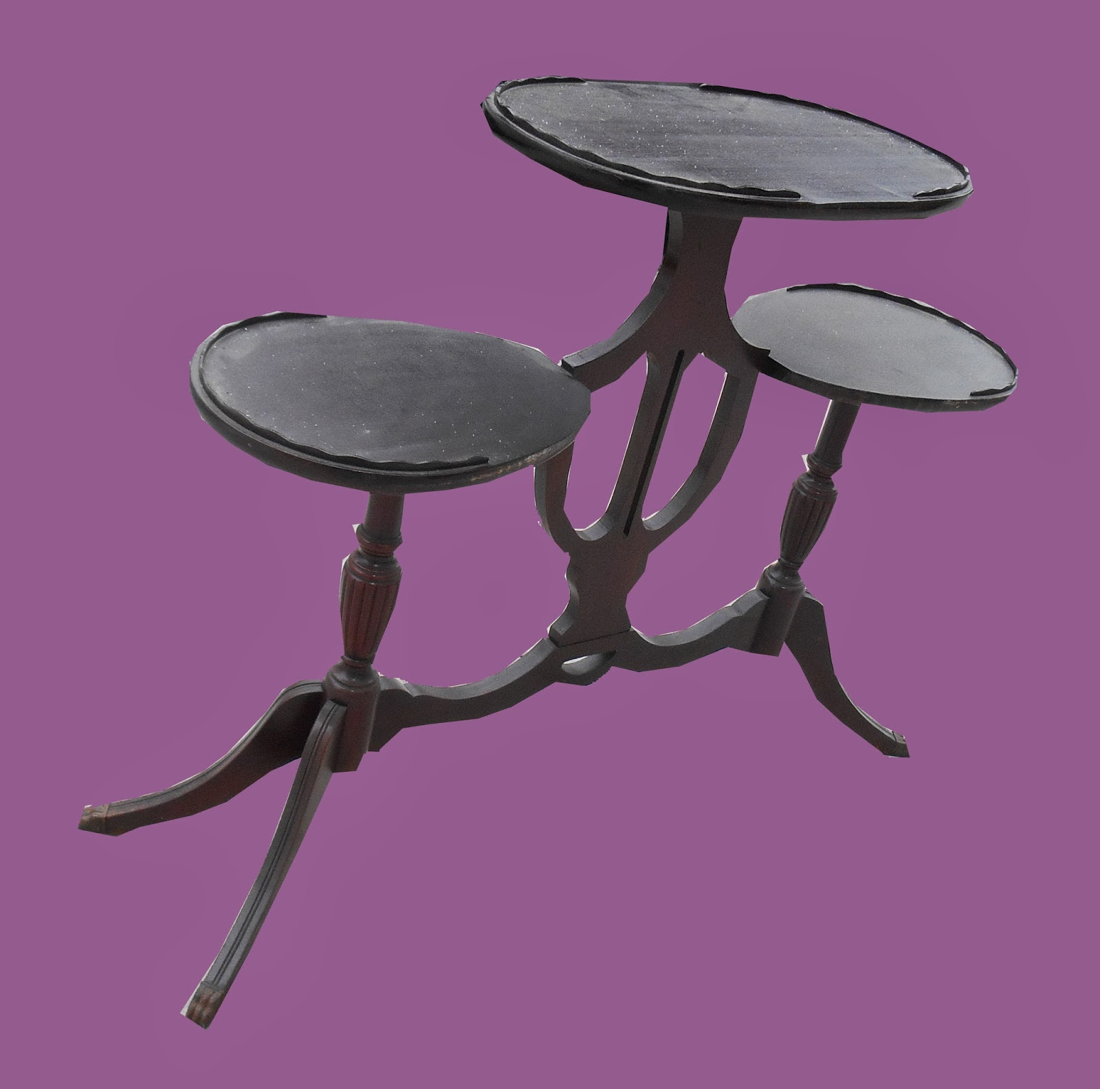 Duncan Phyfe Style Lyre Table  SOLD