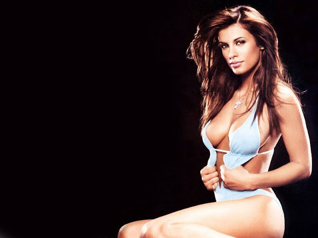 Elisabetta Canalis sexy in lingerie fashion