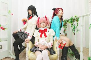 Madoka Magica Homura Kyouko Sayaka Cosplay by Kanan Kaori, Shima, Watomune