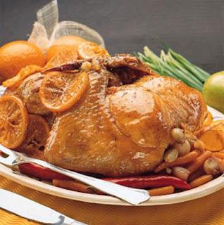 طريقة عمل الدجاج بالبرتقال