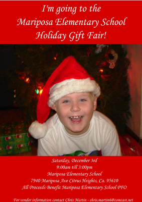 Vendors Needed: Mariposa Elementary School Holiday Gift Fair