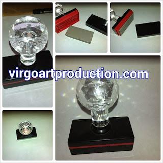stempel flash warna mewah berlian diamond stamp