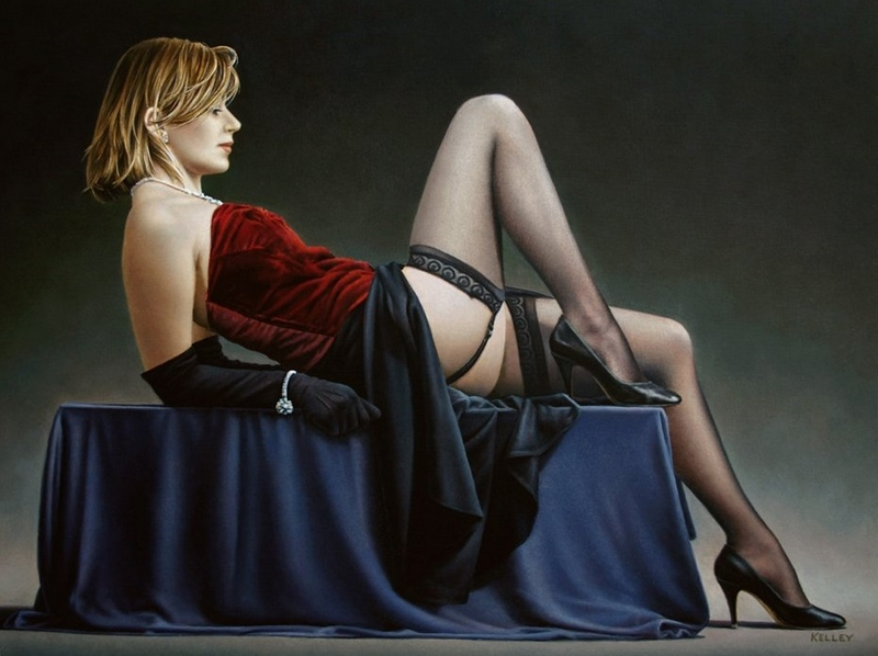 D.W.C. Studies ; Erotic Ladys - Painter Paul Kelley