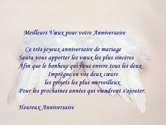 texte anniversaire de mariage 1 ans