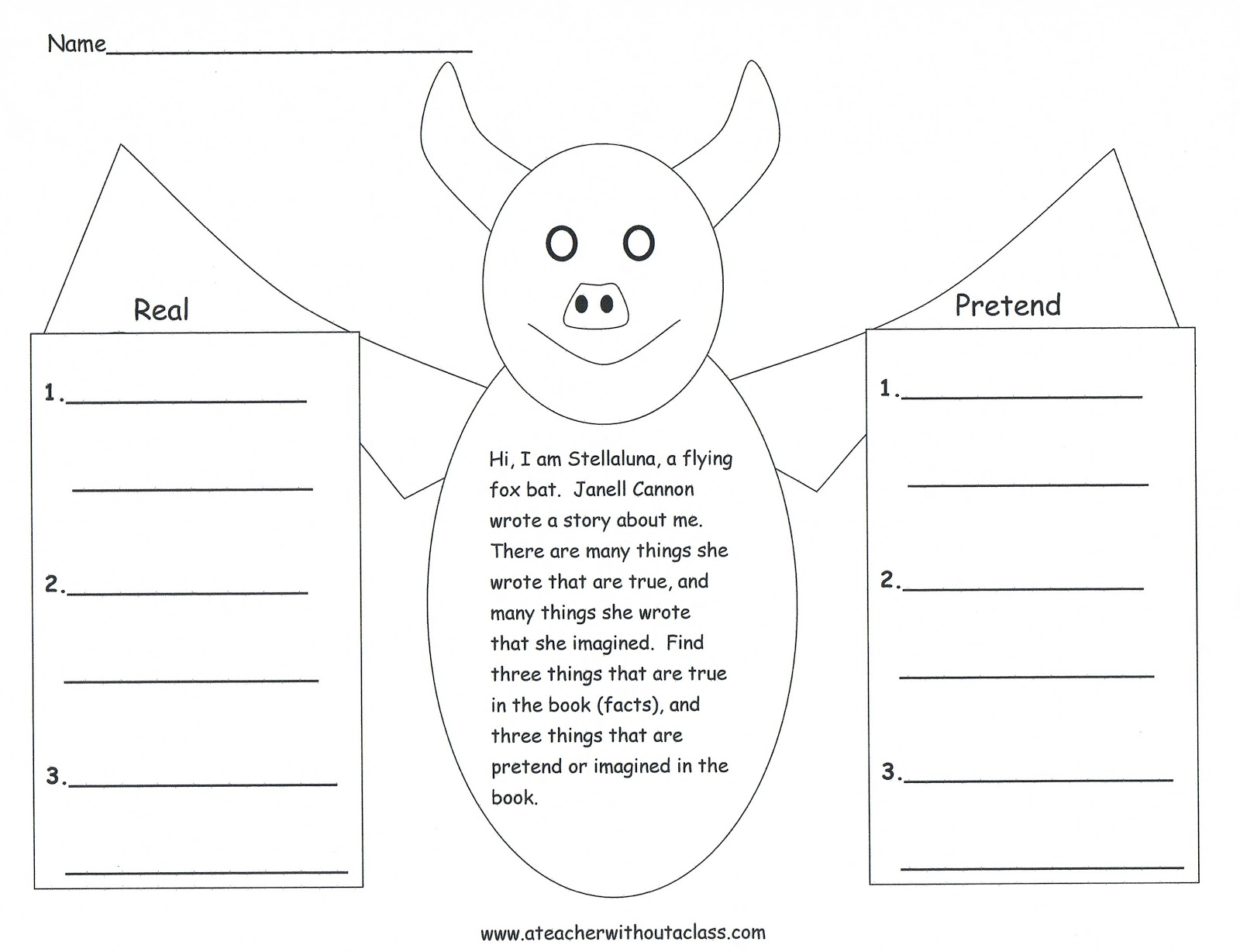 Pretend Teacher Worksheets : A teacher without class bats