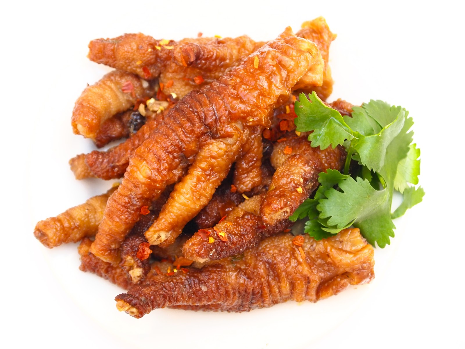 fried but not simmered deep fried chicken feet the minute the chicken ...