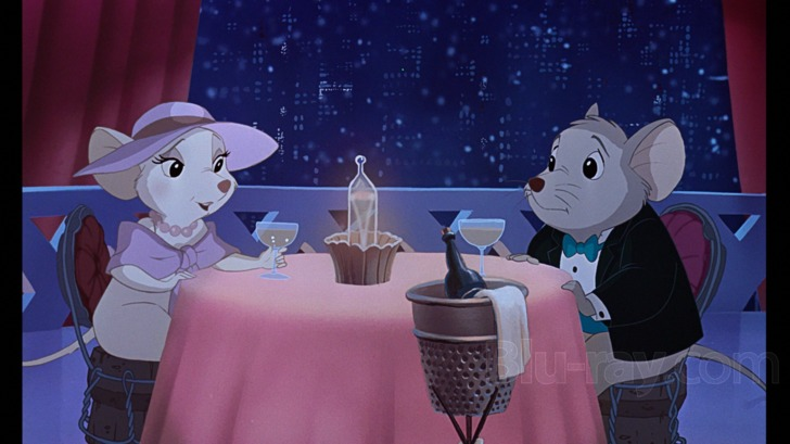 "Bianca Bernard dinner Disney movie ""The Rescuers Down Under"" 1990 animatedfilmreviews.blogspot.com"