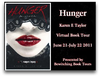 Hunger Virtual Book Tour: Character Interview with Karen E. Taylor