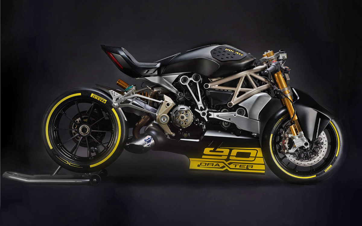 ducati diavel draxter return of the cafe racers. Black Bedroom Furniture Sets. Home Design Ideas