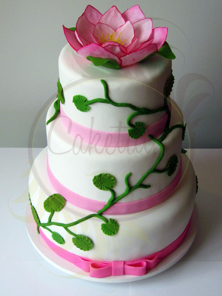 Red Lotus Cake Design : Caketutes Cake Designer: Bolo Flor de Lotus