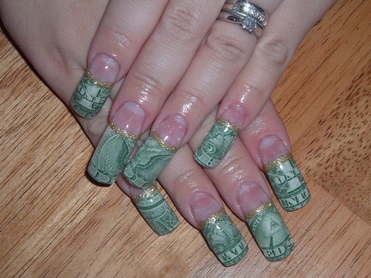Money nail art ledufa green when she left a salon in atlantas west end mall and started beautifying nails with colorful intricate designs in a known inspiration article prinsesfo Images