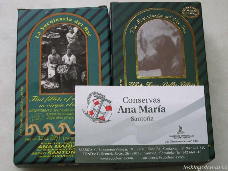 Anchoas y ventresca Ana María