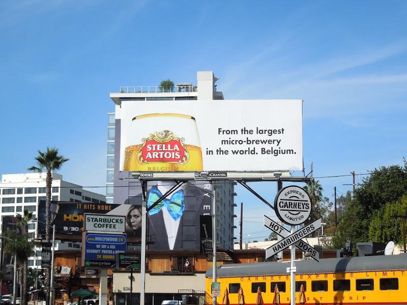 Stella Artois microbrewery Belgium billboard