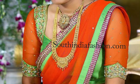 latest silk saree blouse designs 2014