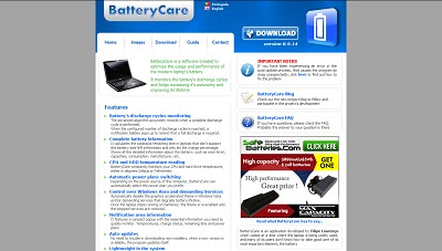 BatteryCare, Battery Software