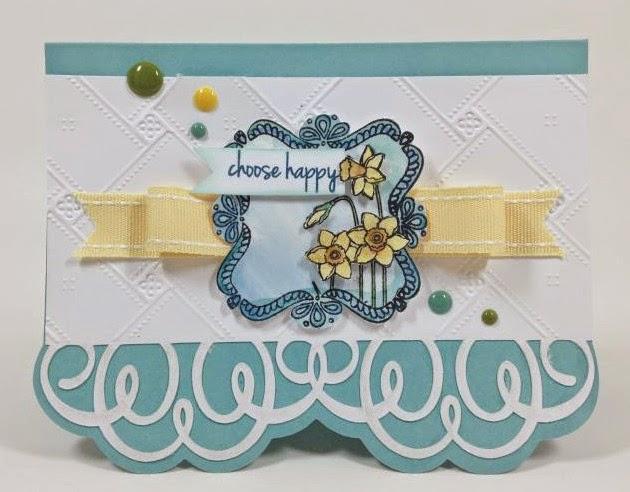 Cricut Happy Daffodil card