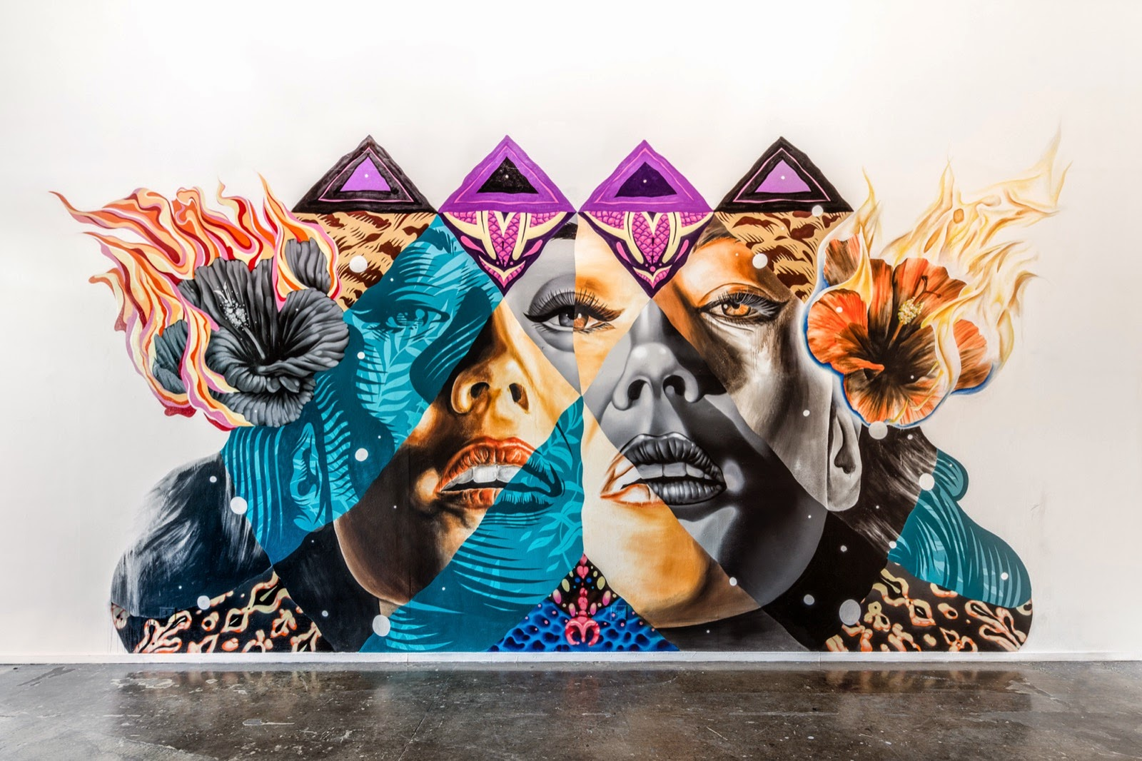 Last week in California, our friends Kamea Hadar and Tristan Eaton teamed up to work on a new indoor installation in the Korea Town district of Los Angeles.