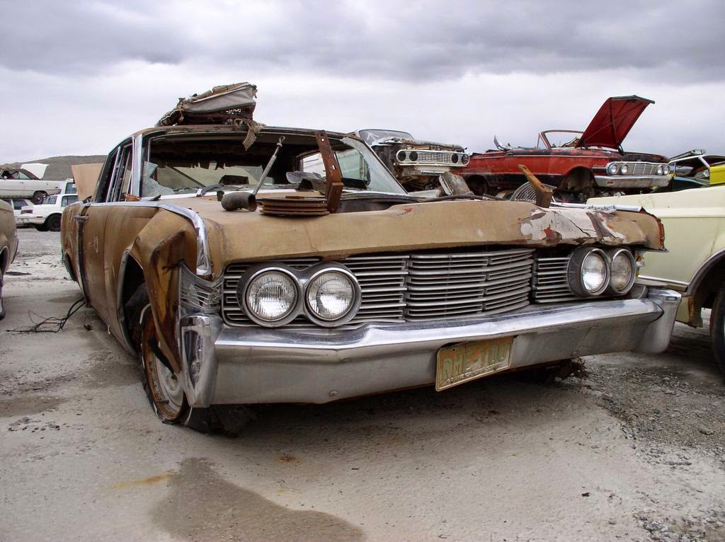 1964 lincoln continental lincolns continentals at the salvage yard. Black Bedroom Furniture Sets. Home Design Ideas