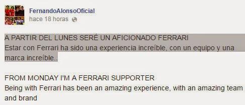 El mensaje de Fernando Alonso que aviva los rumores sobre su futuro