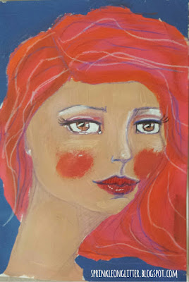 Drawing and Painting Beautiful Faces- Jane Davenport- redhead