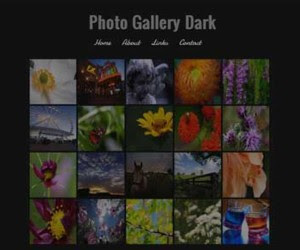 Photo Gallery Dark Blogger Template