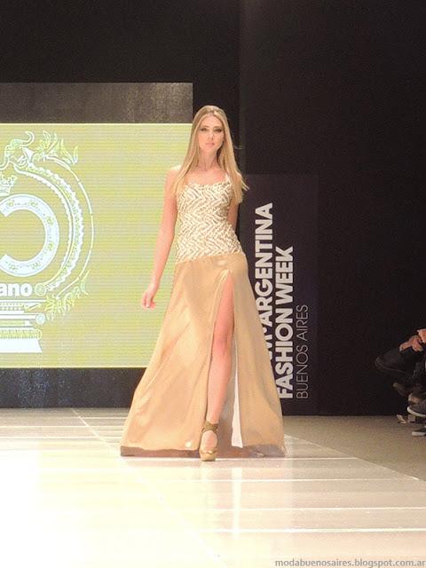 Claudio Cosano 2014 vestidos verano 2014.