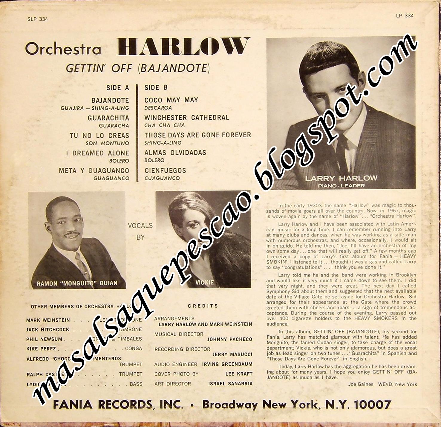 Orchestra Harlow Gettin Off Bajandote