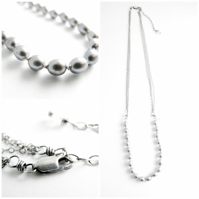 grey pearl great gatsby necklace hint jewelry beth hemmila
