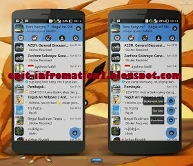 BBM for Android Mod Themes Begal Pure Calm Based 2.8.0.21