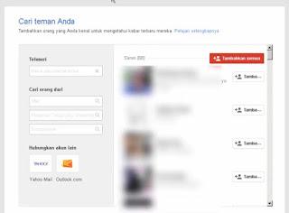 Gplus - daftar akun google orang lain yang disarankan untuk jadi teman gplus kita