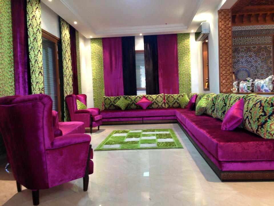 Salon marocain for Decoration orientale moderne salon