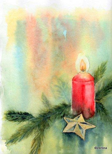 Art ruth trinczek aquarelle und mehr dezember 2012 - Aquarell weihnachten ...