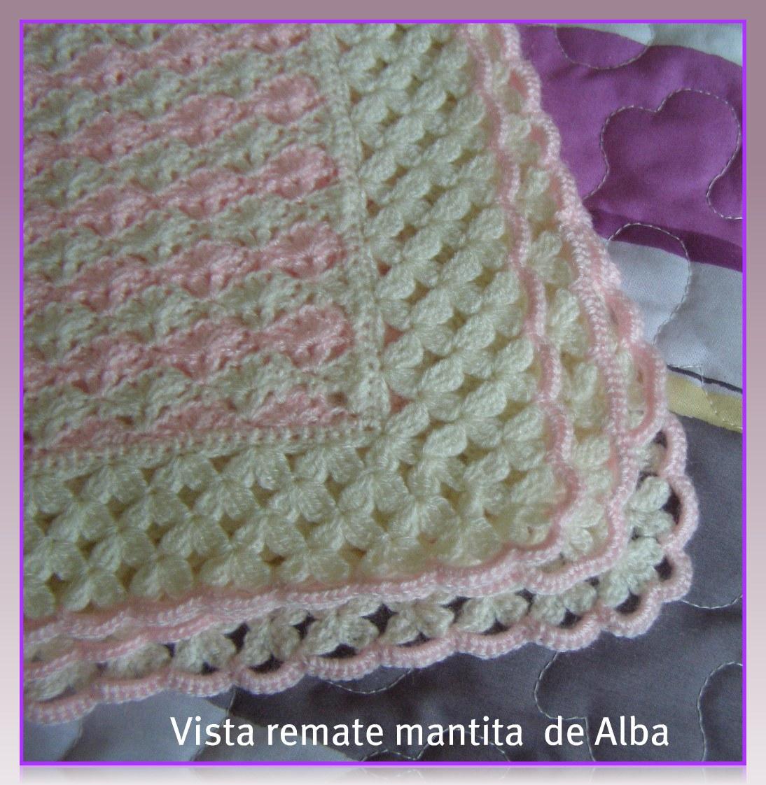 """Punto de Red . Patrones: Mantita bebé """"Alba"""" a crochet/ganchillo"""