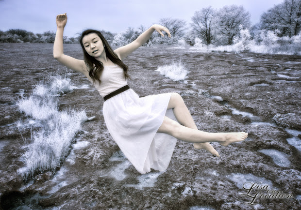 infrared, Canon 50D, levitation, girl floating, Lisa On Location Photography, New Braunfels, San Antonio, San Marcos, Austin