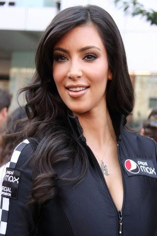 Kim Kardashian as a racer