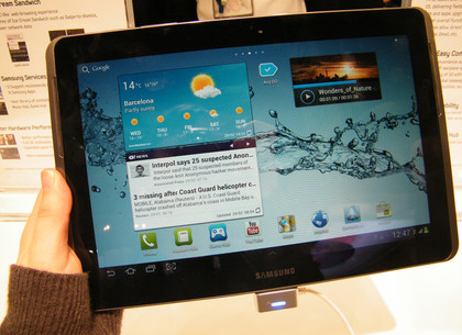 hands on release launch Samsung Galaxy Tab 2 10.1 P5100
