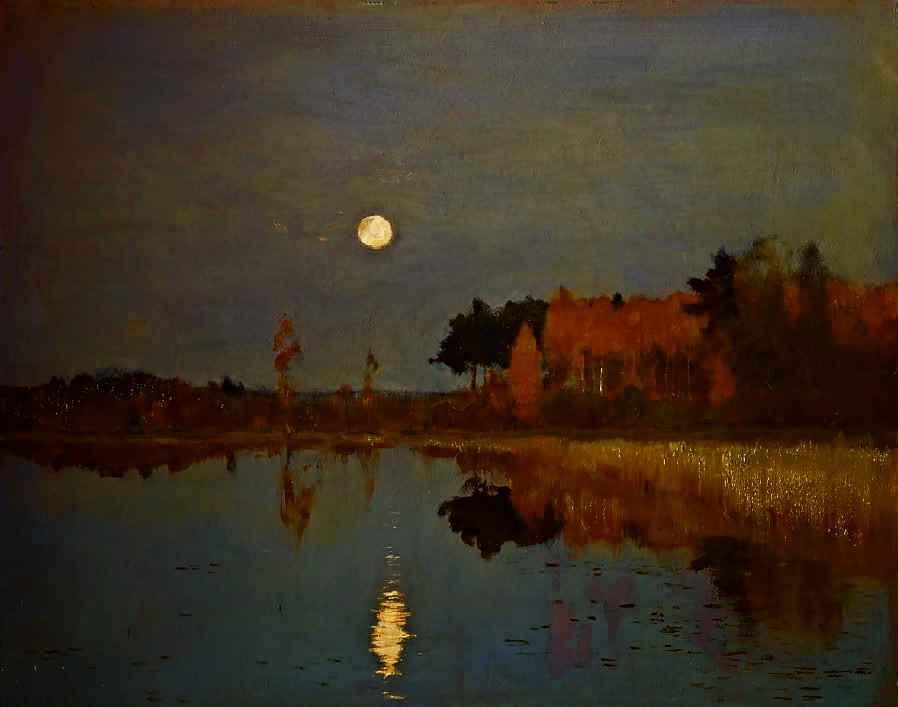 The twighlight moon, 1899