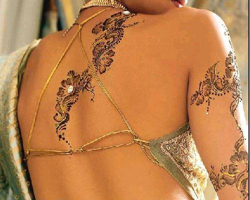 Mehndi For Back : Mehndi designs for back desings