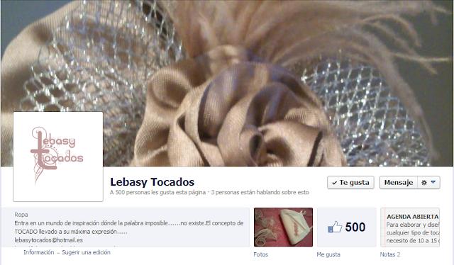 Portada de página de fans en Facebook de Lebasy Tocados