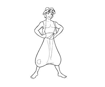 #1 Aladdin Coloring Page