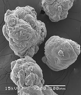 Partículas submicroscópicas de PVC