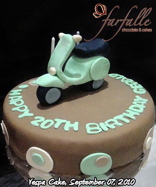 Farfalle Chocolate Cakes Vespa Birthday Cake