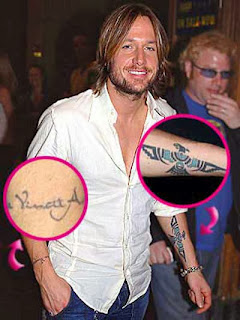 Keith Urban Tattoos Designs| Keith Urban Tattoos Pics