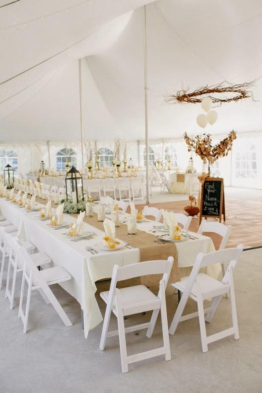 blanco y amarillo para una boda elegante