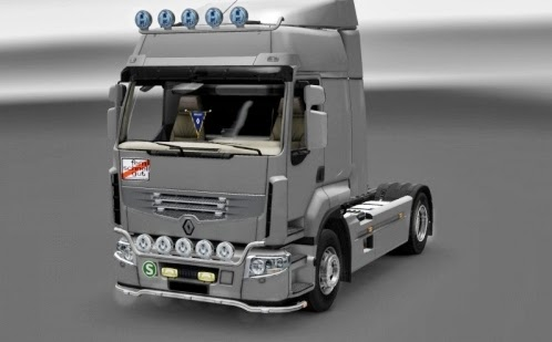 Renault Exterior-Interior Mod,ETS2 Renault Exterior-Interior Mod, Euro truck simulator 2 mod