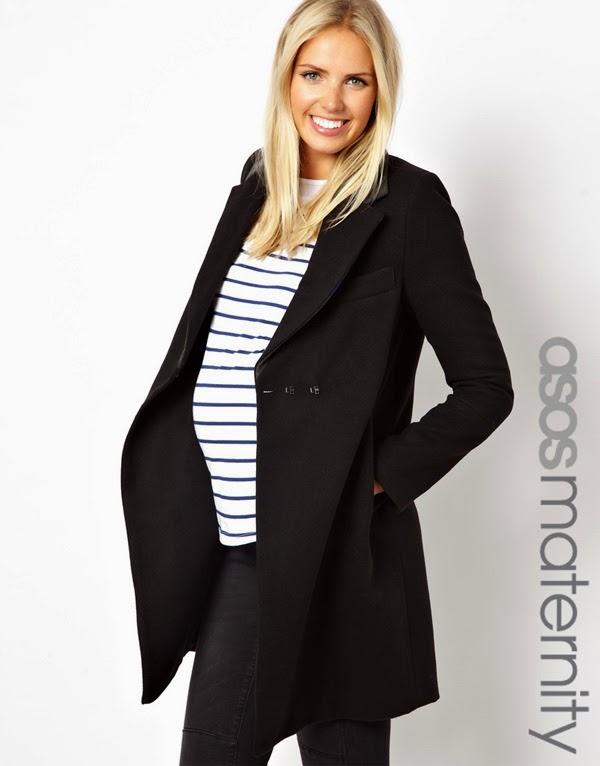 Abrigo negro para mamitas embarazadas