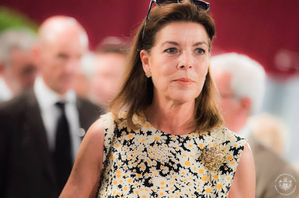 """Princess Caroline of Hanover and Prince Albert II of Monaco attended the International """"Concours de Bouquets"""" (Bouquet Competition)"""
