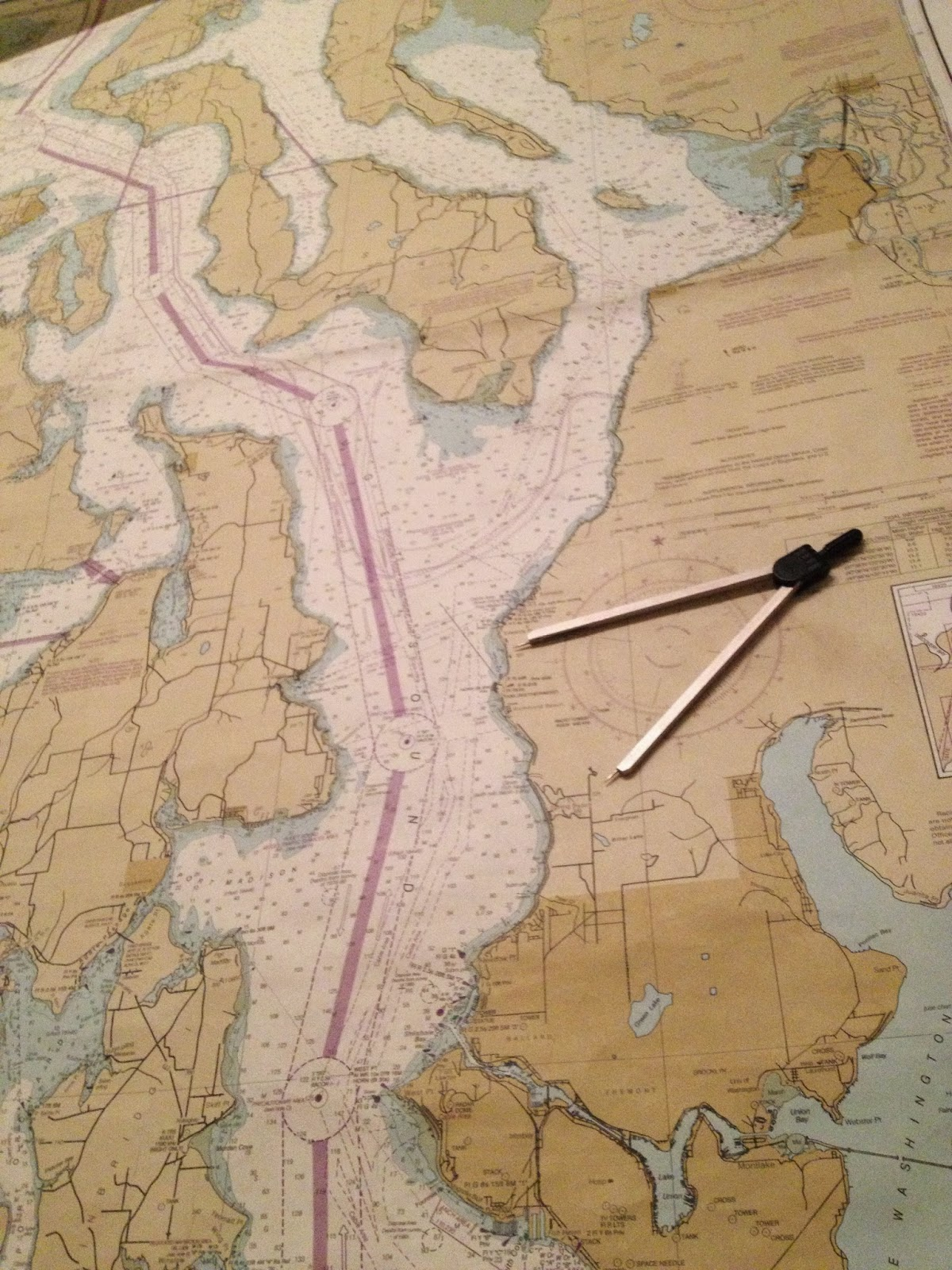 plotting distance with nautical chart