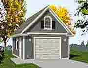 one car garage with attic
